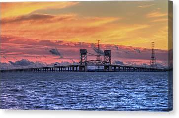 James River Bridge Canvas Print by Jerry Gammon