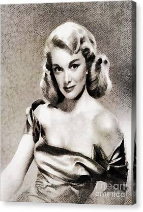 Sterling Canvas Print - Jan Sterling, Vintage Actress by John Springfield