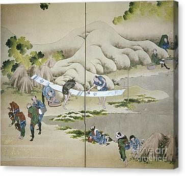 Japan: Cotton Processing Canvas Print by Granger