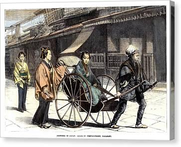 Japan: Rickshaw, 1874 Canvas Print by Granger