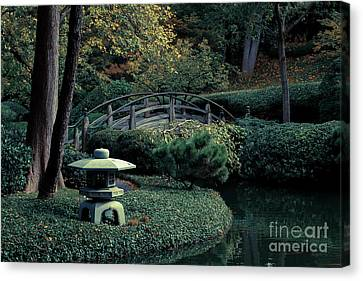 Canvas Print featuring the photograph Japanese Garden In Summer by Iris Greenwell