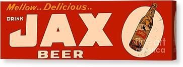 Jax Beer Of New Orleans Canvas Print