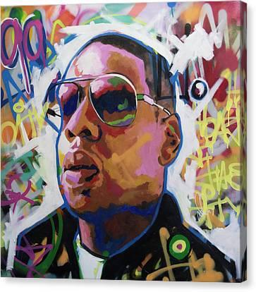 Jay Z Canvas Print - Jay Z by Richard Day