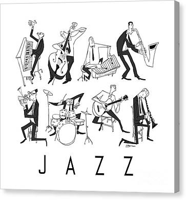 Jazz Canvas Print by Sean Hagan