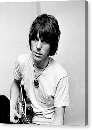 Jeff Beck 1966 Yardbirds Canvas Print by Chris Walter
