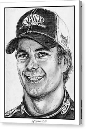Jeff Gordon In 2010 Canvas Print by J McCombie