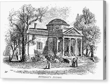 Jefferson: Monticello Canvas Print by Granger