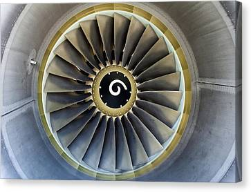Jet Engine Detail. Canvas Print by Fernando Barozza