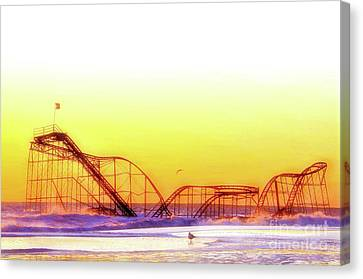 Jet Star Rollercoaster, Seaside Heights  Canvas Print by Bob Cuthbert