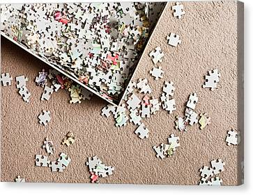 Cardboard Canvas Print - Jigsaw Puzzle by Tom Gowanlock