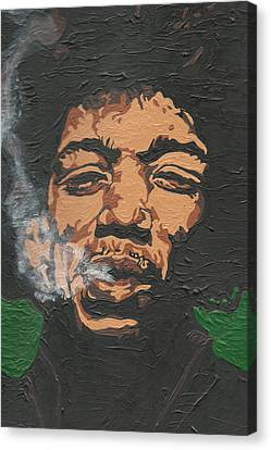Jimi Hendrix Canvas Print by Rachel Natalie Rawlins
