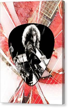 Jimmy Page Led Zeppelin Art Canvas Print