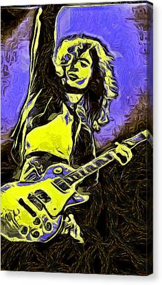 Robert Plant Canvas Print - Jimmy Page by Galeria Zullian  Trompiz