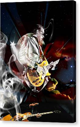 Joe Bonamassa Blue Guitarist Art Canvas Print by Marvin Blaine