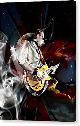 Joe Bonamassa Blues Guitarist Art Canvas Print by Marvin Blaine