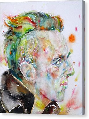 Joe Strummer - Watercolor Portrait Canvas Print by Fabrizio Cassetta