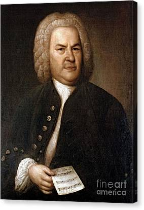 Sacred Artwork Canvas Print - Johann Sebastian Bach, German Baroque by Photo Researchers