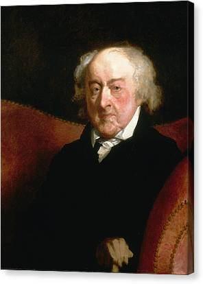 John Adams Canvas Print by Gilbert Stuart