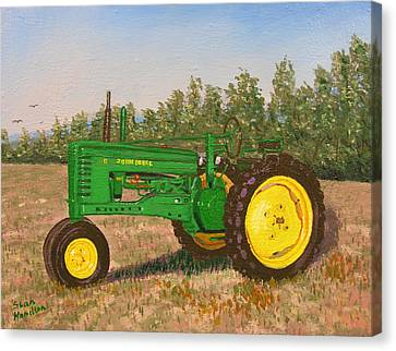 John Deere Model B Canvas Print by Stan Hamilton