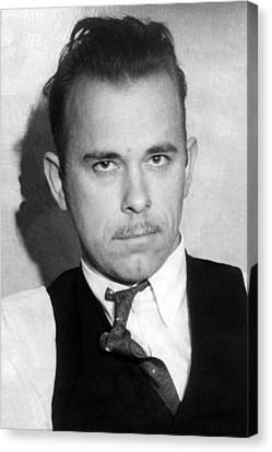 John Dillinger, Public Enemy No.1 Canvas Print by Everett