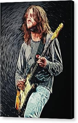 Pearl Jam Canvas Print - John Frusciante by Taylan Apukovska