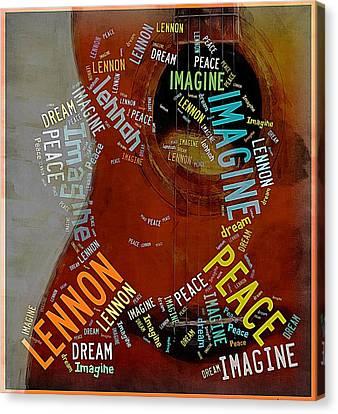 John Lennon Canvas Print by Allen Beilschmidt