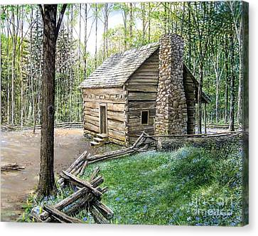 John Ownby Cabin  Canvas Print