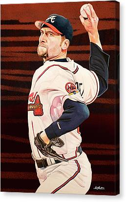 John Smoltz - Atlanta Braves Canvas Print by Michael Pattison