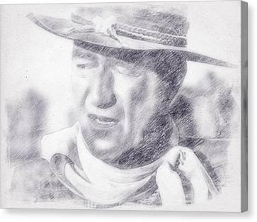 John Wayne By John Springfield Canvas Print by John Springfield