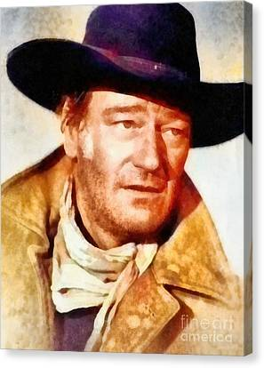 John Wayne, Vintage Hollywood Legend Canvas Print
