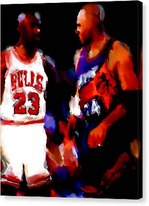 Jordan And Barkley Canvas Print by Brian Reaves