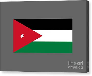 Jordan Canvas Print - Jordan Flag by Frederick Holiday