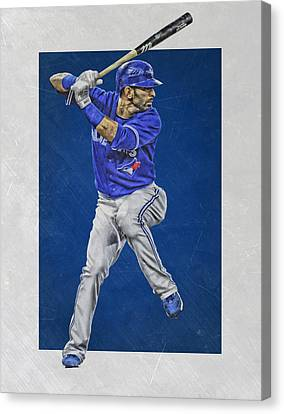 Jose Bautista Toronto Blue Jays Art Canvas Print by Joe Hamilton