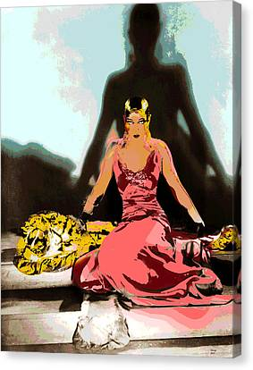 Josephine Baker Canvas Print by Charles Shoup
