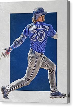 Josh Donaldson Toronto Blue Jays Art Canvas Print by Joe Hamilton