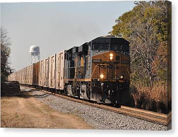 Canvas Print featuring the photograph Juice Train by John Black