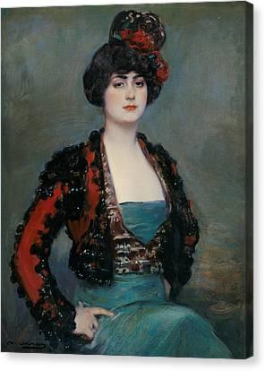 Julia Canvas Print by Ramon Casas