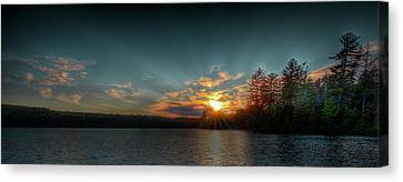 June Sunset On Nicks Lake Canvas Print by David Patterson