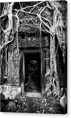 Jungle Temple Door #2 Canvas Print