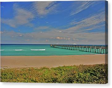 Canvas Print featuring the photograph 1- Juno Beach Pier by Joseph Keane
