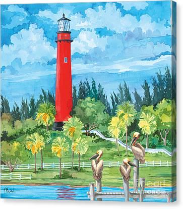 Jupiter Lighthouse Canvas Print by Paul Brent