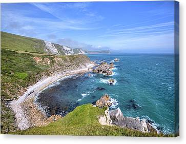 Ledge Canvas Print - Jurassic Coast - England by Joana Kruse