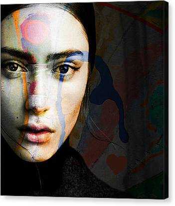 Canvas Print featuring the mixed media Just Like A Woman by Paul Lovering