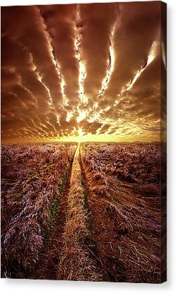 Canvas Print featuring the photograph Just Over The Horizon by Phil Koch