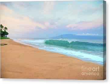 Canvas Print featuring the photograph Ka'anapali Waves by Kelly Wade