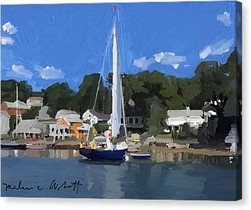 Kanga In Lobster Cove Canvas Print