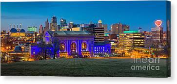 Kansas City Panorama Canvas Print by Inge Johnsson