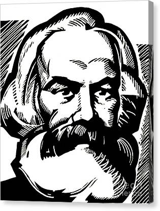 Karl Marx Canvas Print by Russian School