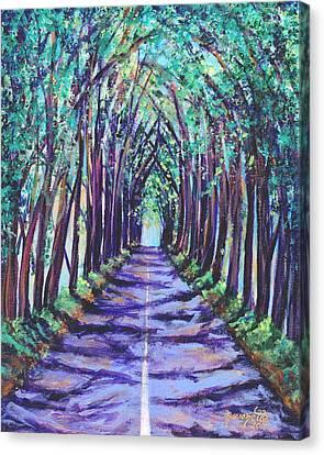 Kauai Tree Tunnel Canvas Print by Marionette Taboniar