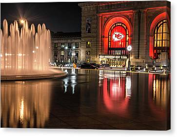 Kansas City Chiefs Union Station Canvas Print by Kevin Whitworth